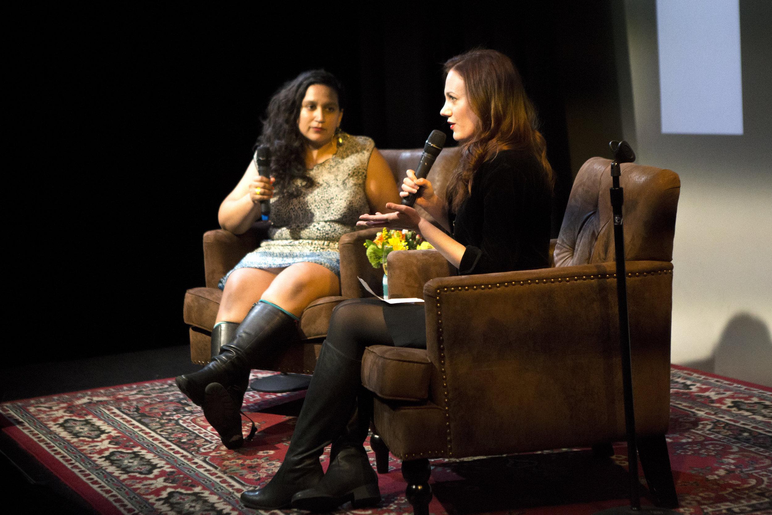 Serene J Khader and Monica McCarthy/ Photo by Kathleen Caulderwood
