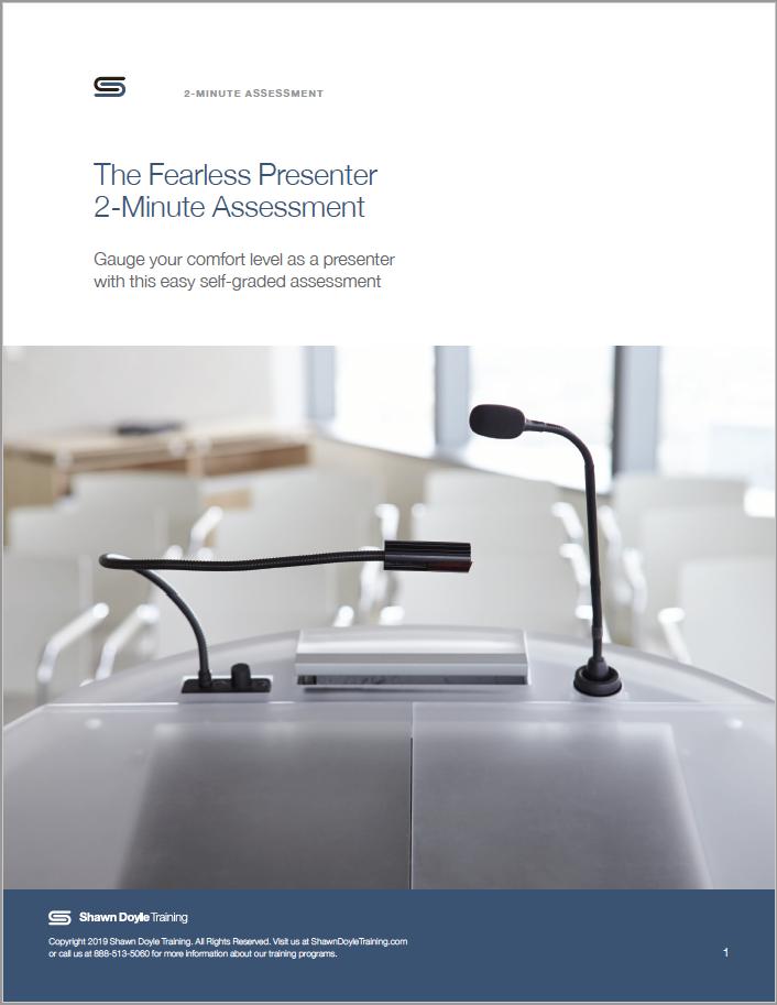 Fearless Presenter 2-minute assessment