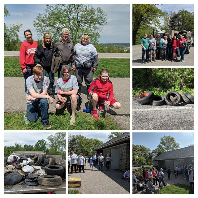 Thanks to everyone who came out to cleanup Devou Park today! Forty (yes 40!) tires, a sectional sofa, and many bags of bottles and cans were cleaned from the park.