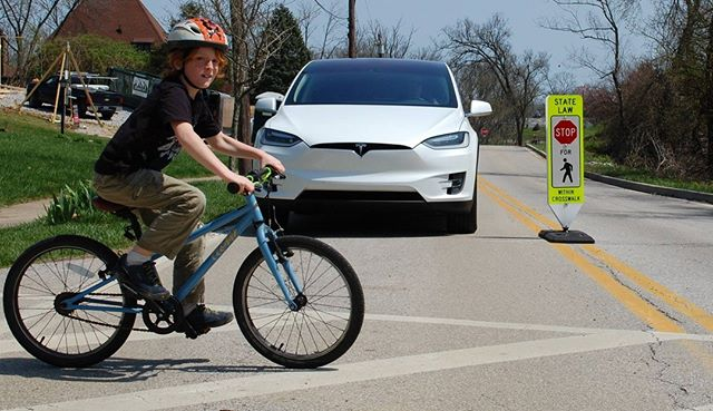 Remember, Cars Yield to Bikers and Bikers yield to Pedestrians!
