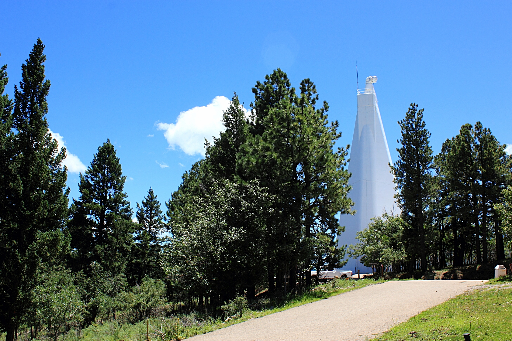 Located in the heart of the scenic Lincoln National Forest, Sunspot Solar Observatory has been a premier facility for solar research since its establishment in 1947. The Dunn Solar Telescope (above), built in 1969, remains to date one of the best ground-based solar observatories in the world.