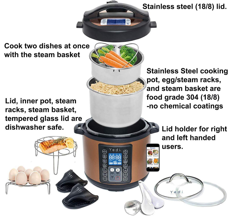 Home Pressure Cook Steamer Hot Pot Egg Yogurt Saut Recipes & 2Yr ...