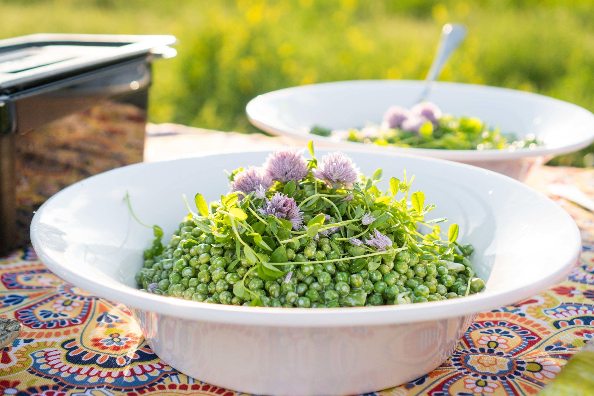 Pea Shoot Salad