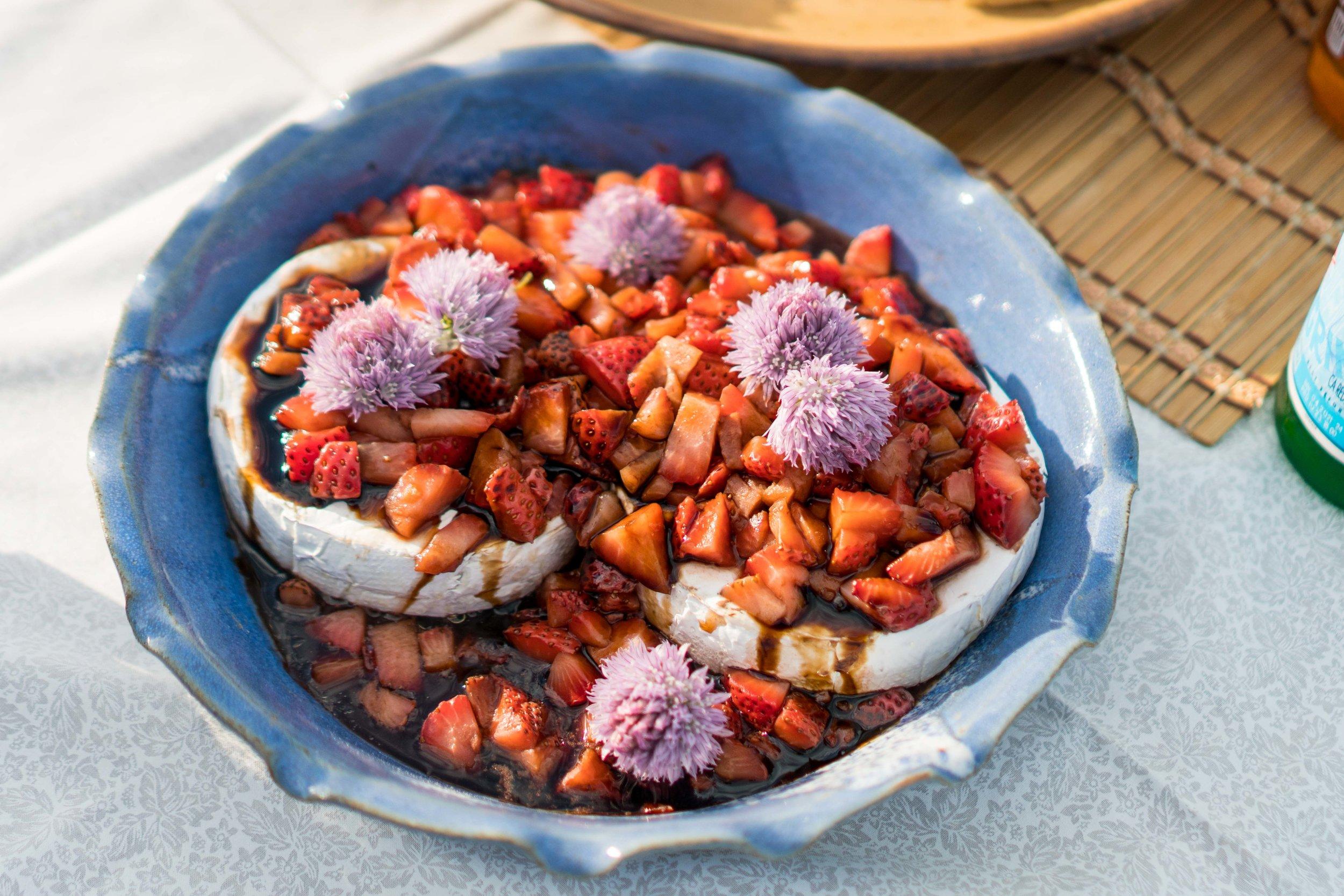Strawberry Caprese Bruschetta