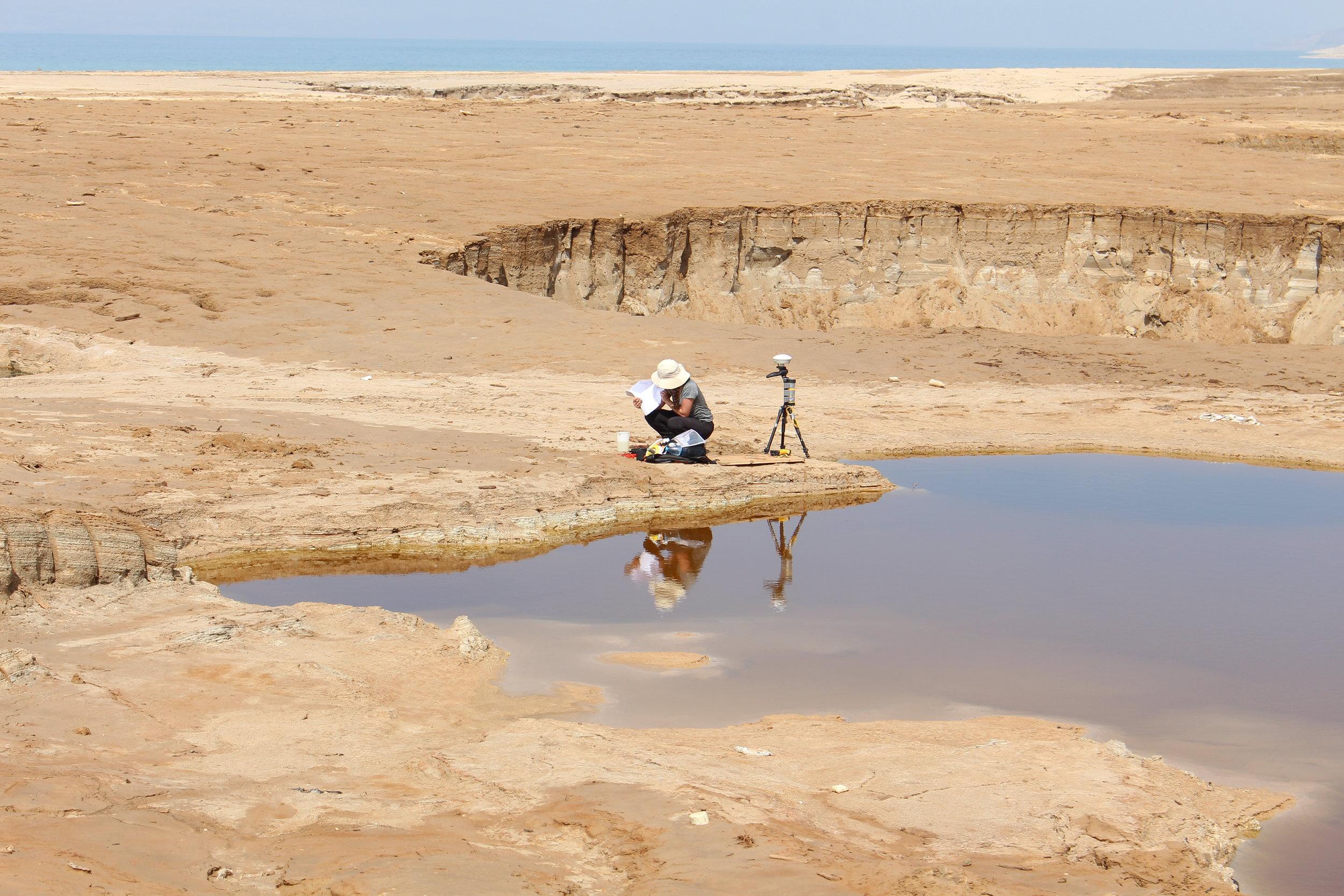 Taking water samples_Dead Sea.JPG