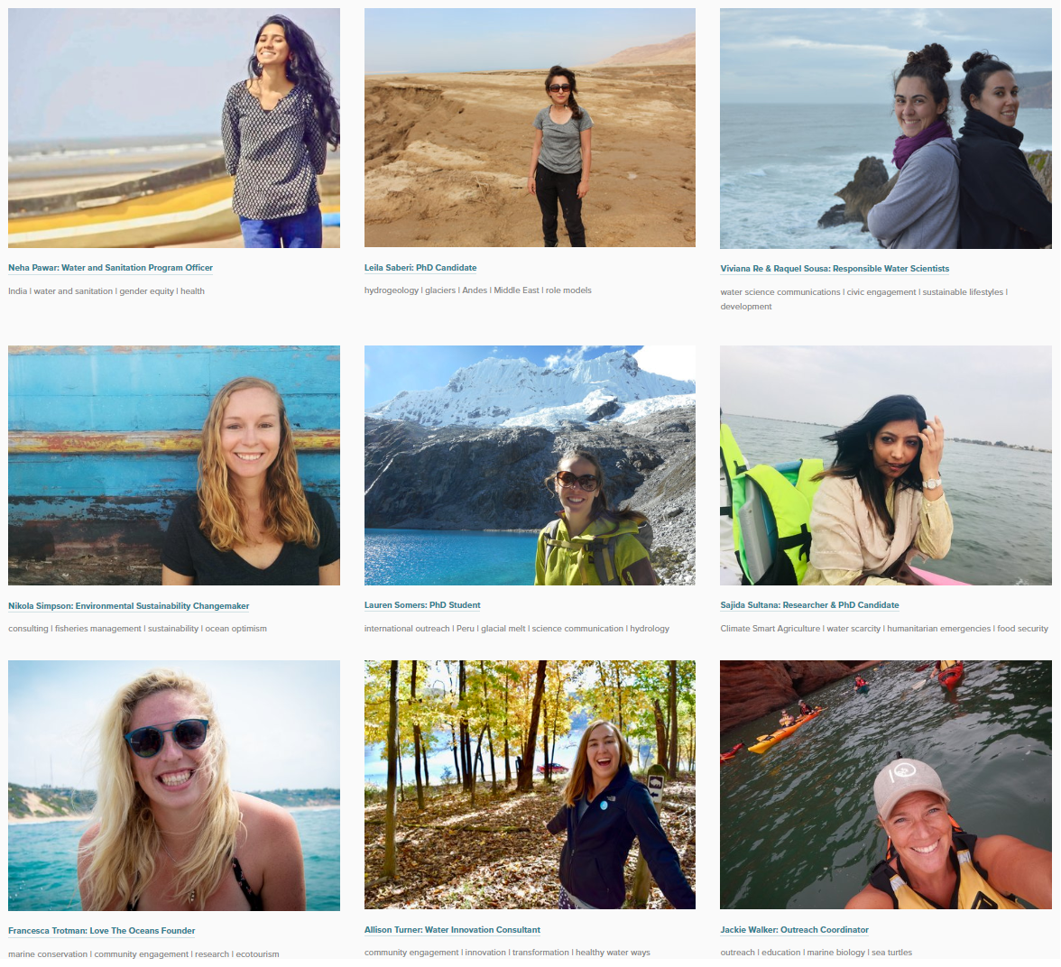 Be profiled. - Our Women in Water Profiles dig into the biographies and ambitions of women who work, volunteer, and play in all aspects of the water sector. Sound like you? Get in touch!