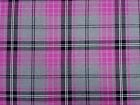 Cerise, Grey and Black Tartan