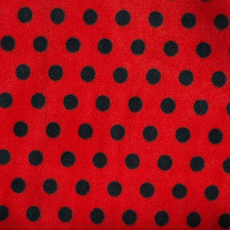 Red and Black Spot Fleece