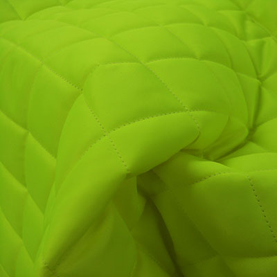 Lime Green Quilted Waterproof