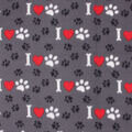 Grey 'I Love Paws'