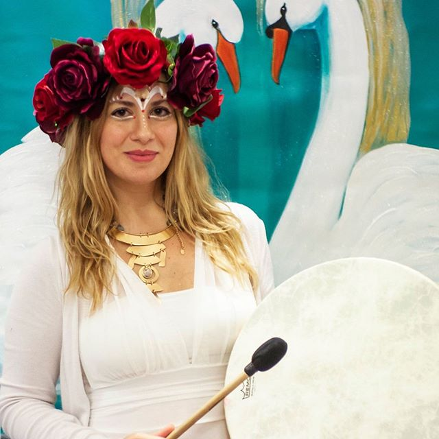 "Drumming at this years Roma Goddess Conference 2019. 🌺 Come to the Roma Goddess Conference 2020! The theme is ""Goddess and Environment- Save Mother Earth"" 🌏 and there will be lots of Special Guests, Beautiful Ceremonies and Workshops! 🌻 21-22 March 2020 - Rome The Conference will be in Eng & Ita Infos & Tickets: info@tempiodellagrandedea.com"