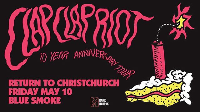 We'll be supporting @clapclapriot for their Chch show at @blue_smoke_music_bar !