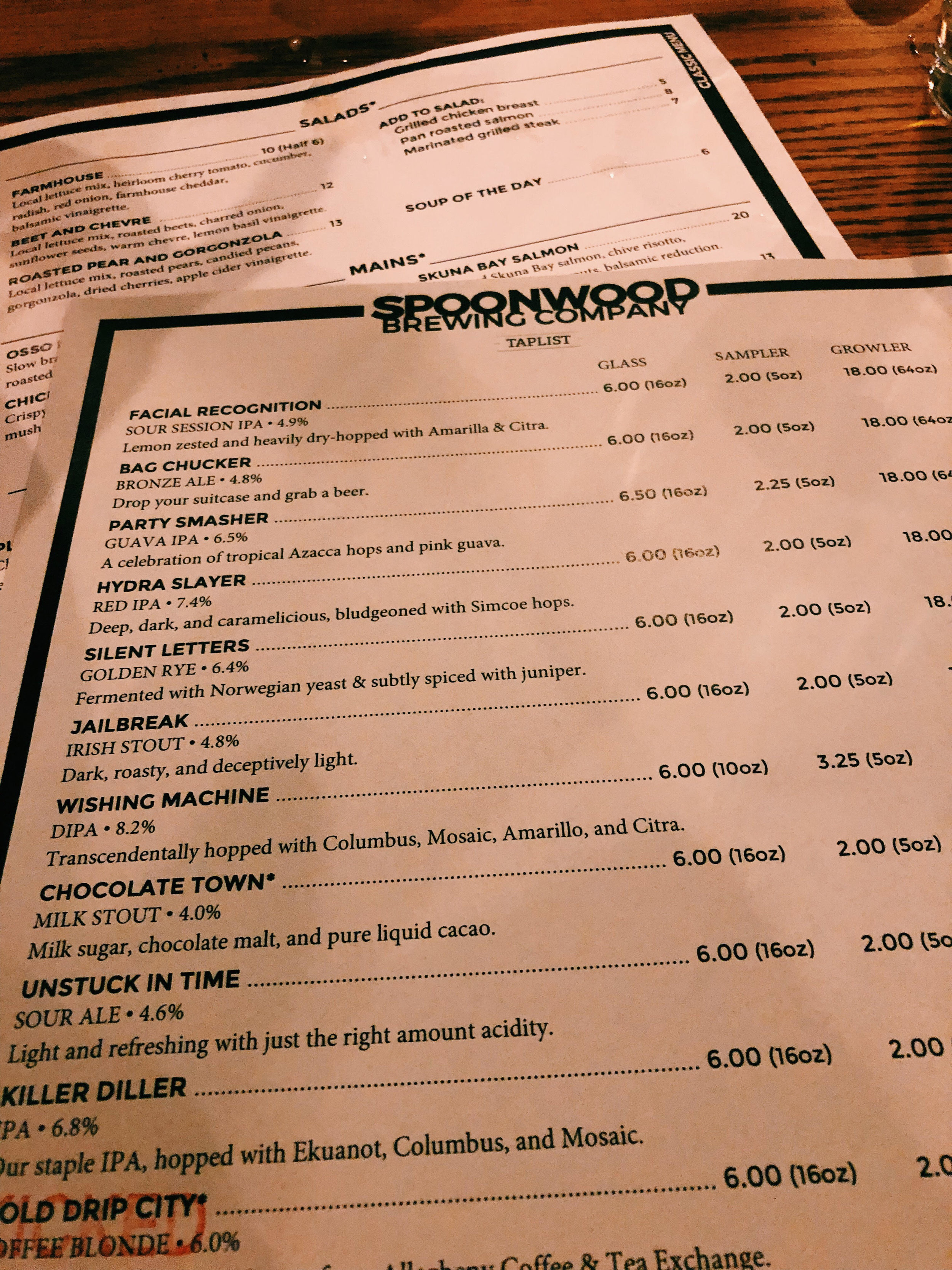 An Ever-changing Tap-list! - Spoonwood Brewery Co. Location5981 Baptist Rd, Pittsburgh, PA 15236