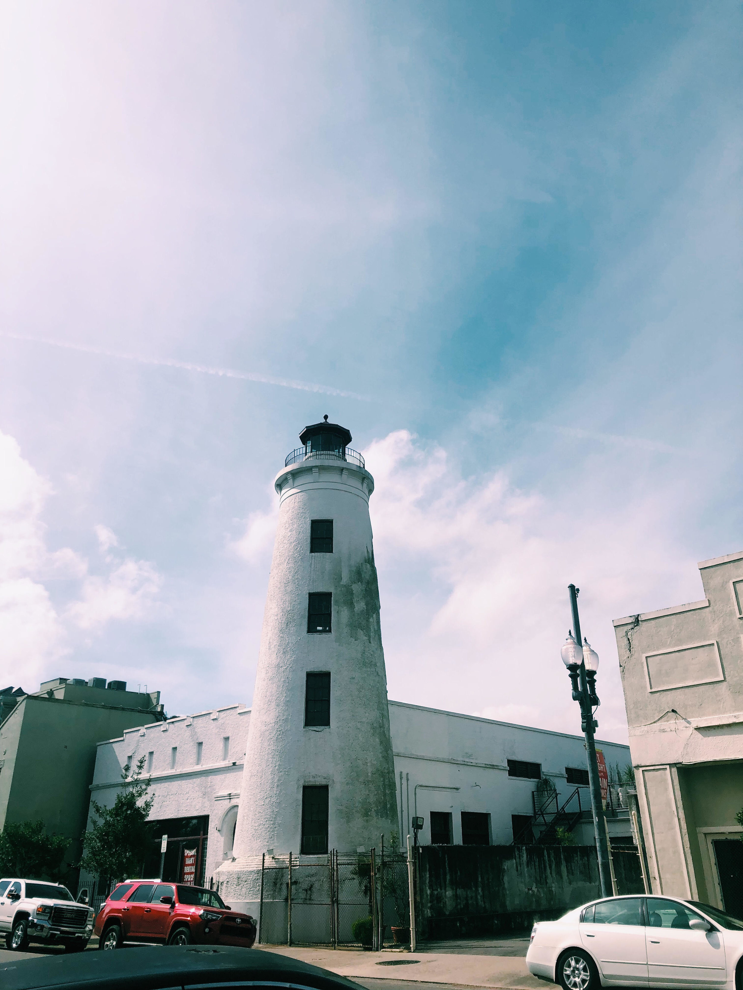 - Lighthouse look-alike in the middle of the Warehouse district of New Orleans