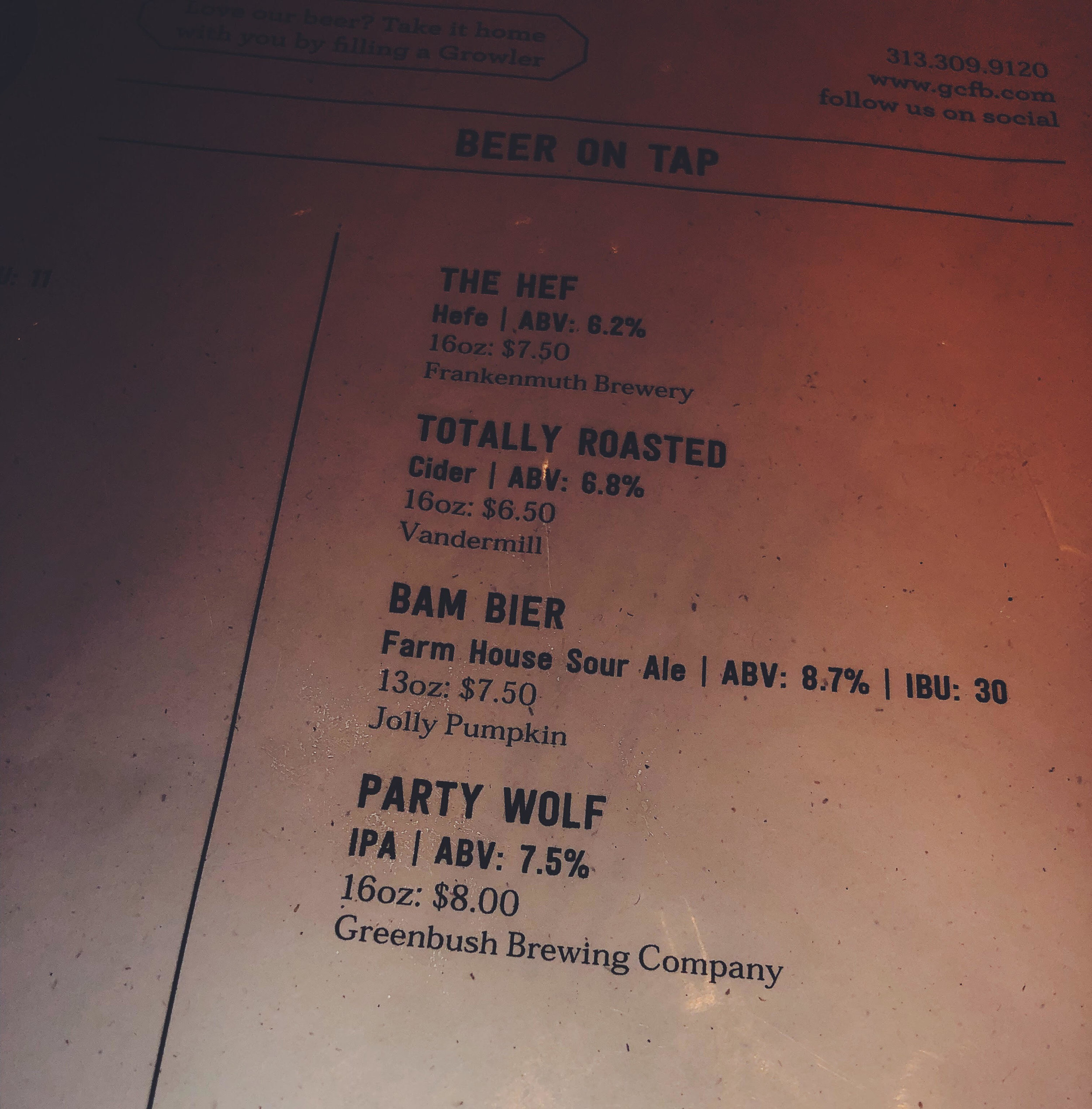 "No partying for me tonight but I tried the ""Party"" Wolf IPA - Granite City Food & Brewery"