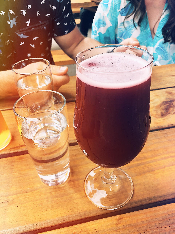 A pretty hefty pour!