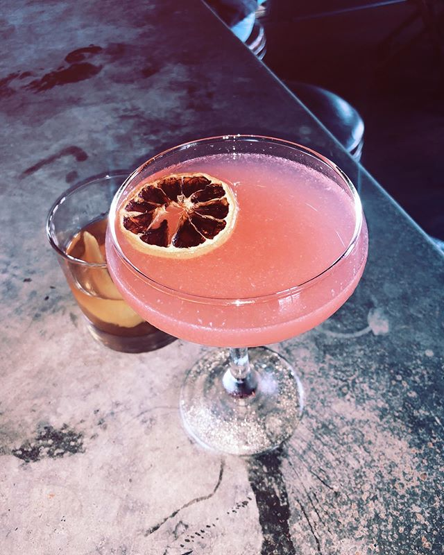 My favorite bar to date in ATX ⭐️ . . . #atx #austintexas #austin #texas #rose #cocktail #tequila #weekendgetaway ☀️ . . . Happy Birthday to my MVP @emilesburgh 😘