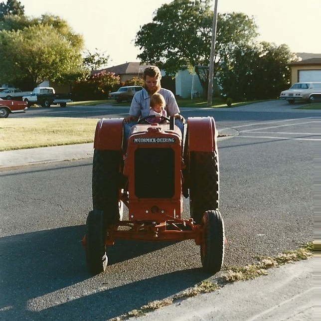 Riding tractors with Dad