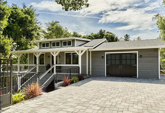 """To quote the inspector, """"This is the nicest accessory dwelling unit I've ever seen!"""" We proudly agree!  This house was designed and built for the client's daughter and her family but ADU's can also be a great way to earn additional income, especially in the Bay Area's crazy housing market! Give us a call today to learn more about making an addition to your property.  #exteriordesign #adu #guesthouse #designbuild #custombuild #carriagedoors #housebeautiful #exterior #exteriorinspo #homestyling #designinspiration"""