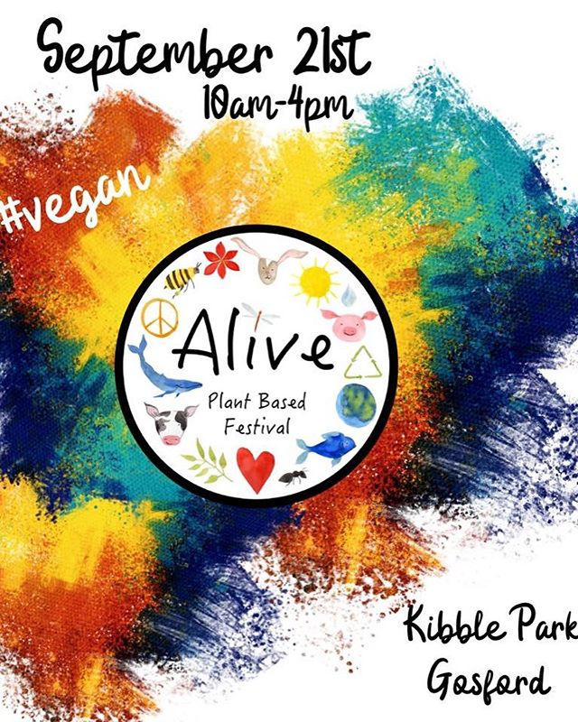 We will 🐝 at Alive 🌿 on Saturday💚 Our very 1st Festival 🌈 Come say 👋 and checkout our new Tees and singlets. Book a tour or bnb stay or just stop for a chat while you enjoy your delicious vegan lunch from the amazing array of food stalls.  Support our Fundraising Raffle by buying a ticket or 2, some great prizes to be won 🎁 all will be revealed in tomorrows post 💚🤗 @aliveplantbasedfestival  #aliveplantbasedfestival #centralcoastnsw