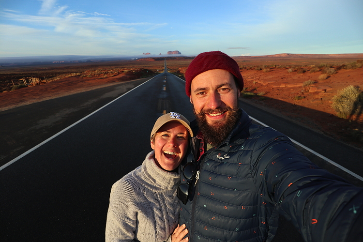 On a wild adventure across America last month with my love.