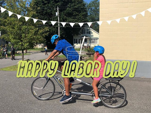 Happy Labor Day! Just a reminder that we will be closed today. Regular programming will resume tomorrow at three! See you then 😊 • • •  #LDW #biddeford #mainenonprofit #tandem #bikelife #youthempowerment