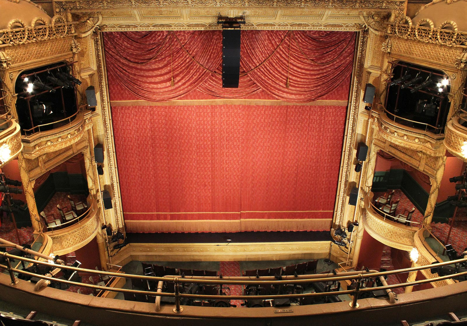 View from the balcony of the New Victory Theatre. Credit: New 42nd Street.
