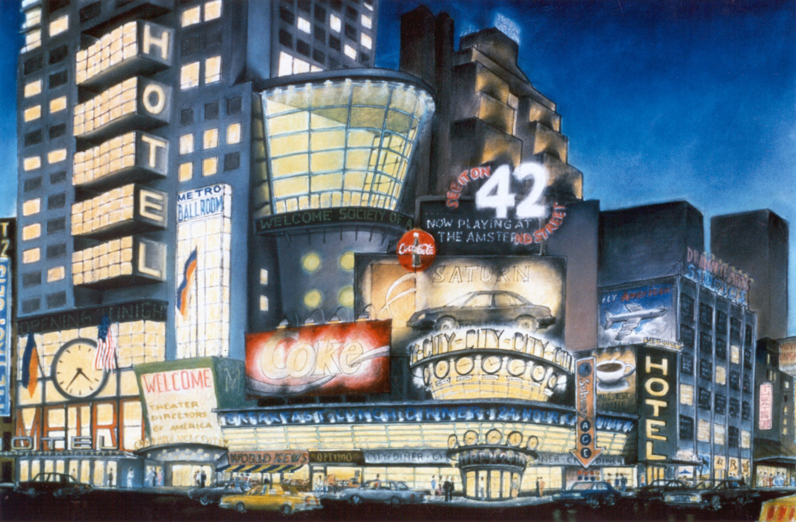 Design vision for 42nd Street, on the southwest corner of 42nd and 7th Avenues. The site that would eventually be developed into what is today Five Times Square. Credit: Robert A.M. Stern Architects