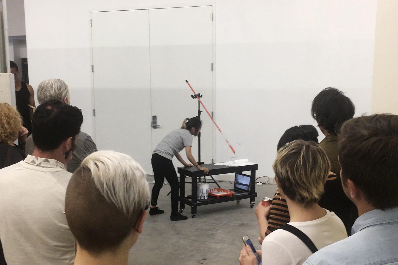 Live Performance at UCLA MFA Open Studios 2018