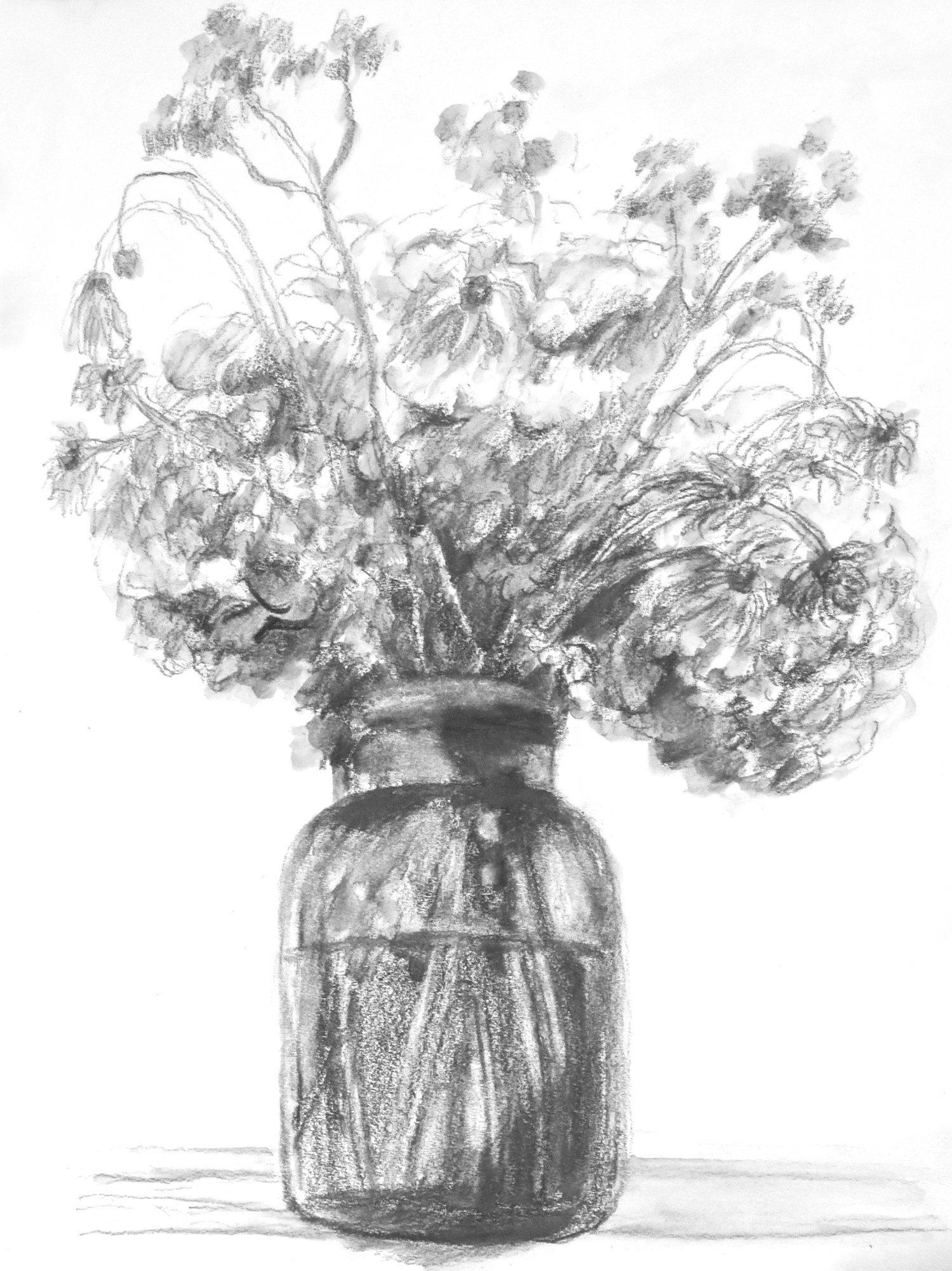 Mason Jar with Bouquet