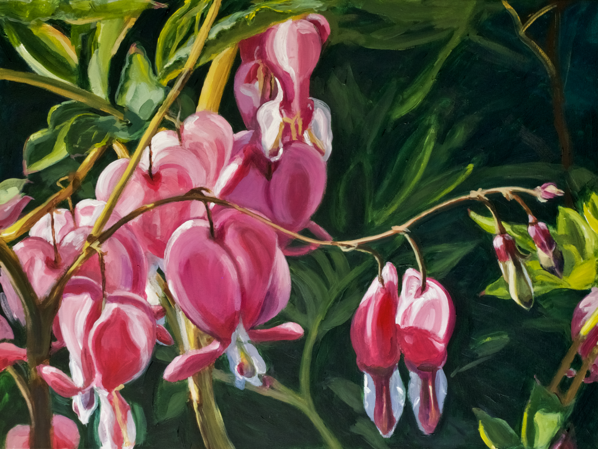 April 2014 - Two of Leona's Flowerscapes are accepted to Philadelphia Sketch Club's open Art of the Flower Exhibit. This is held annually, at the same time as the renowned Philadelphia Flower Show.