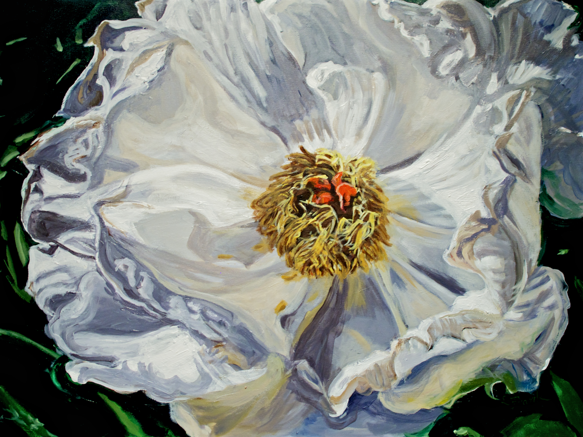 June 2015 - Leona's painting Peony 2, Weir Farm is chosen for Weir Farm's 25th Anniversary Exhibition of former selected Artists-in-Residence.