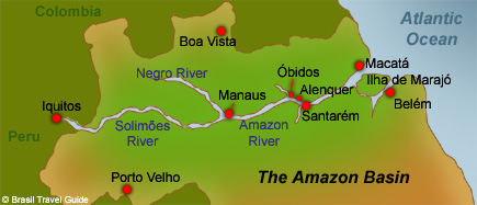 Some basic Amazon Basin orientation courtesy of  https://www.brazil-travel-guide.com/Map-Of-Amazon.html