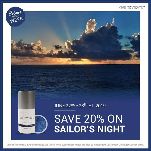 Two ships passing in the night.... Add some mystery and intrigue to your manicure with #SailorsNight Only $26.24 all this week.  Hit the link in my bio to get your bottle before they sell out.  #GelMoment #independentdistributor #blue #weeklyspecials #gelmanicure #gelnails #naturalnails #selfcare #vegan #crueltyfree #nontoxic #nontoxicnails #gorgeous #ditchthesalon