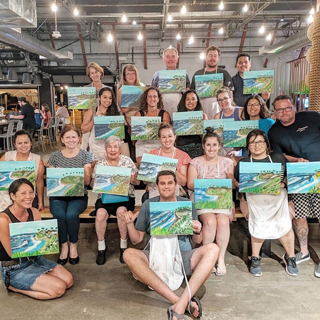 Yay!  We had a blast last night painting Swami's and grooving to live music @myyardlive!  You all did beautifully and I am so proud of what you accomplished!  Your paintings are gorgeous!  I can't wait to paint with you all again!  A very special thanks to the staff and everyone who helped!  See you next time at our  PopUp Paint-N-Sip! @sdpopupplaydate #funnkology