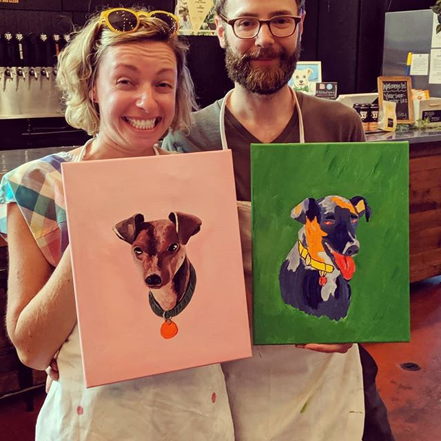 ❤️💙💚💛💜We painted our hearts out last night!  So proud of you all!  Check these out.🐕🐴 I'll be back at @latitude33brew for another round of Paint Your Pet on -Tuesday September 17th. 🎉 -Thursday October 3rd 🎫 Pre-register using link in bio @fillthatspace See you then!! 9/18 is my bday, so everyone who registers for 9/17 gets a free gift 🎁from me.  Yay!! #paintandsip #fillthatspace #painting #freeflowgalore #staceydmessina #sandiegopaintandsip  #beerme #paintyourheartout #wineandpaint #northcountysd #sanelijo #vista #sanmarcosca #paintclass #paintnight #artistlife #privateparties #oceanside #carlsbad #familyfriendly #sandiego #localbusiness #sanmarcosca #swamisbeach #encinitas #lattitude33 #ch33ers #community #sdpopupplaydate #paintyourpet
