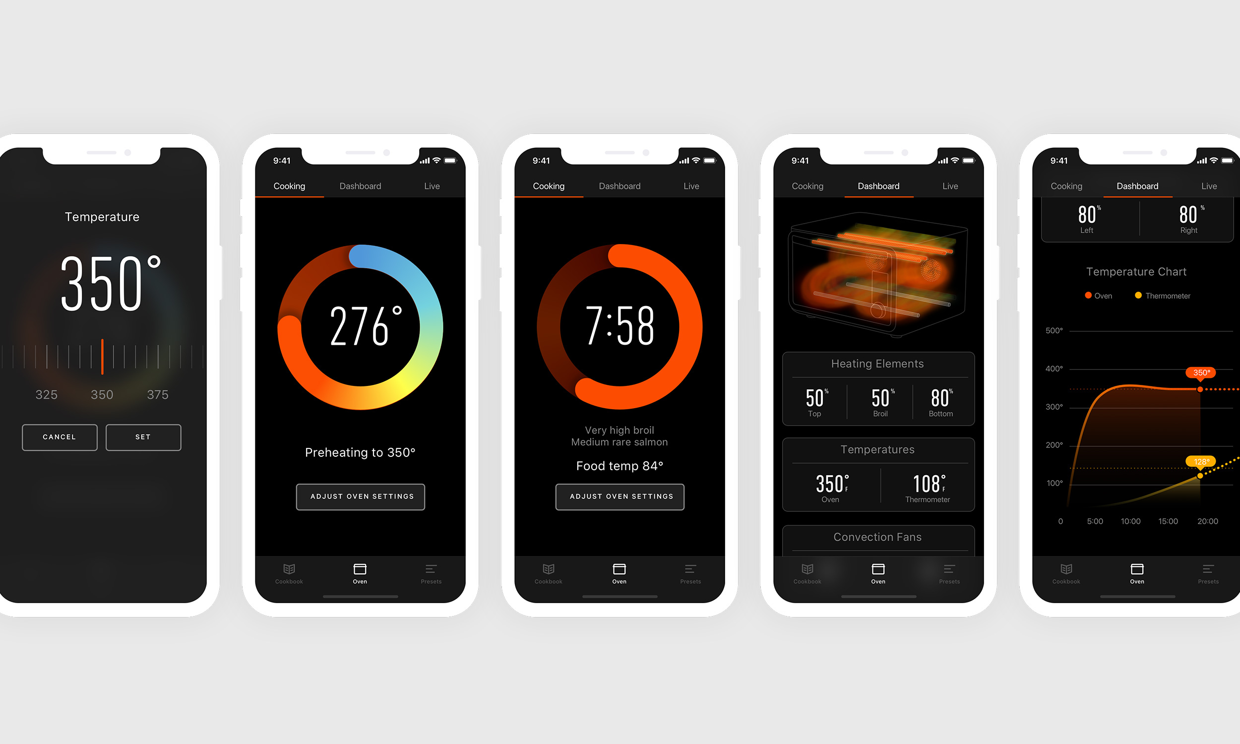 The June app gives you loads of info about your current cook progress