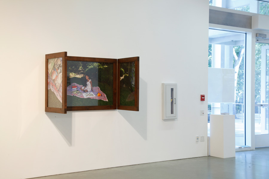 Installation view of The Spotless Mirror at UCLA New Wight Gallery