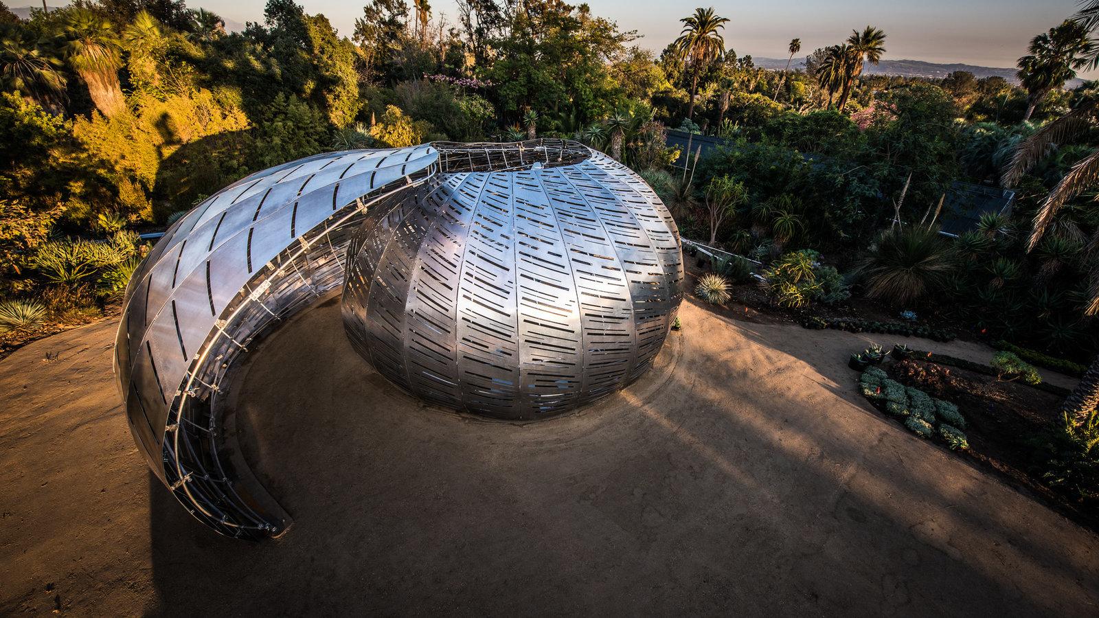 The Orbit Pavilion produces sounds based on orbiting satellites.Courtesy NASA/JPL-Caltech