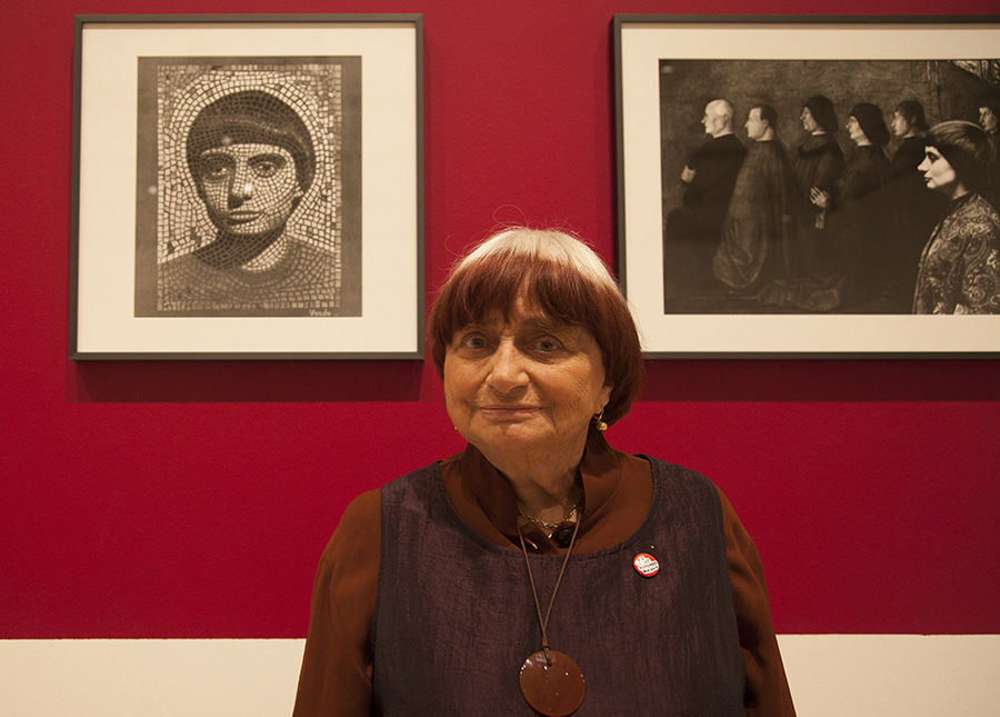"Agnès Varda at LACMA's exhibition ""Agnès Varda in Californialand"" 