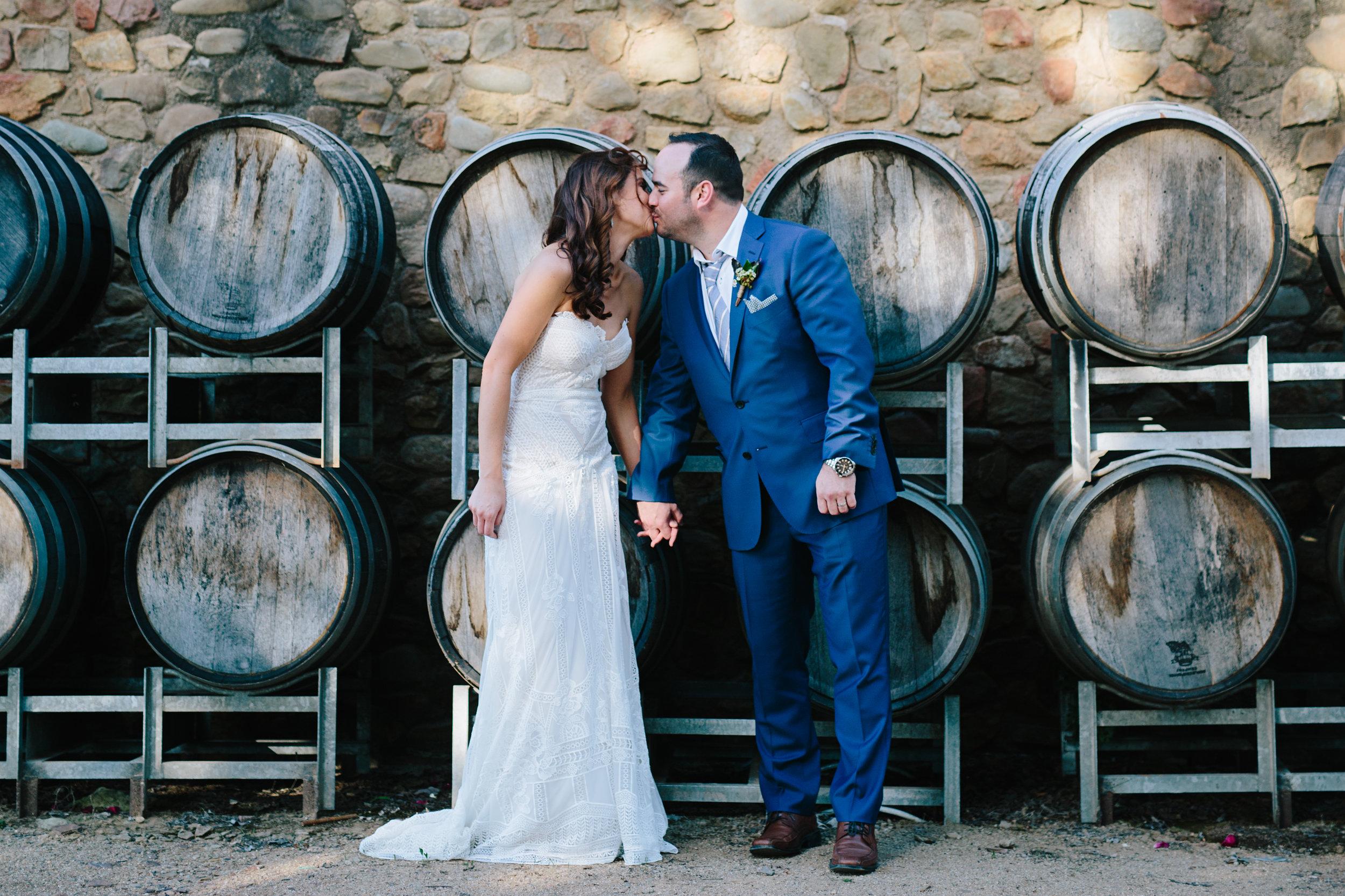 Natalie and Chris - Feathertop Winery, Porpunkah