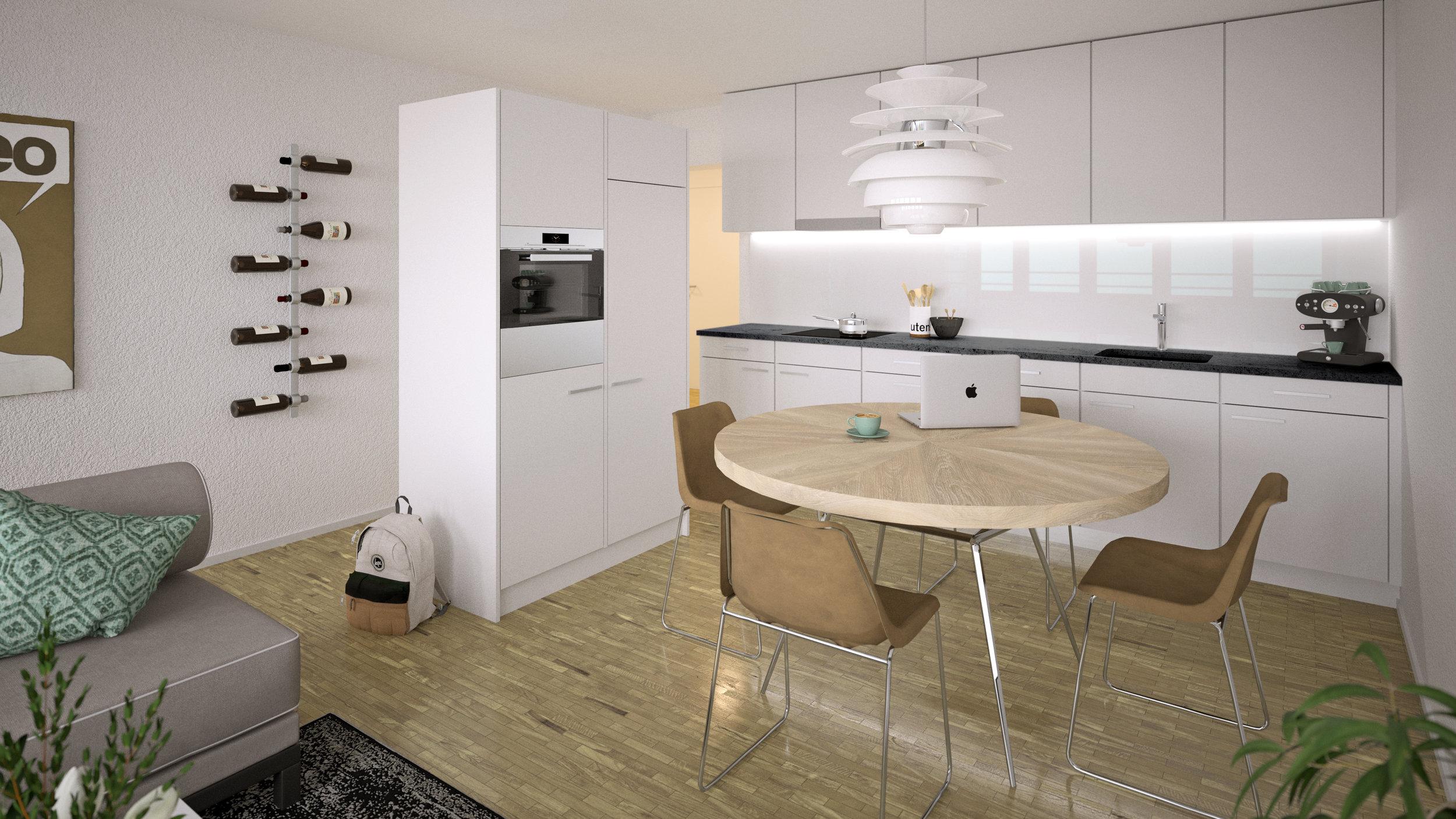 Visualiserung Küche, Eingangsbereich