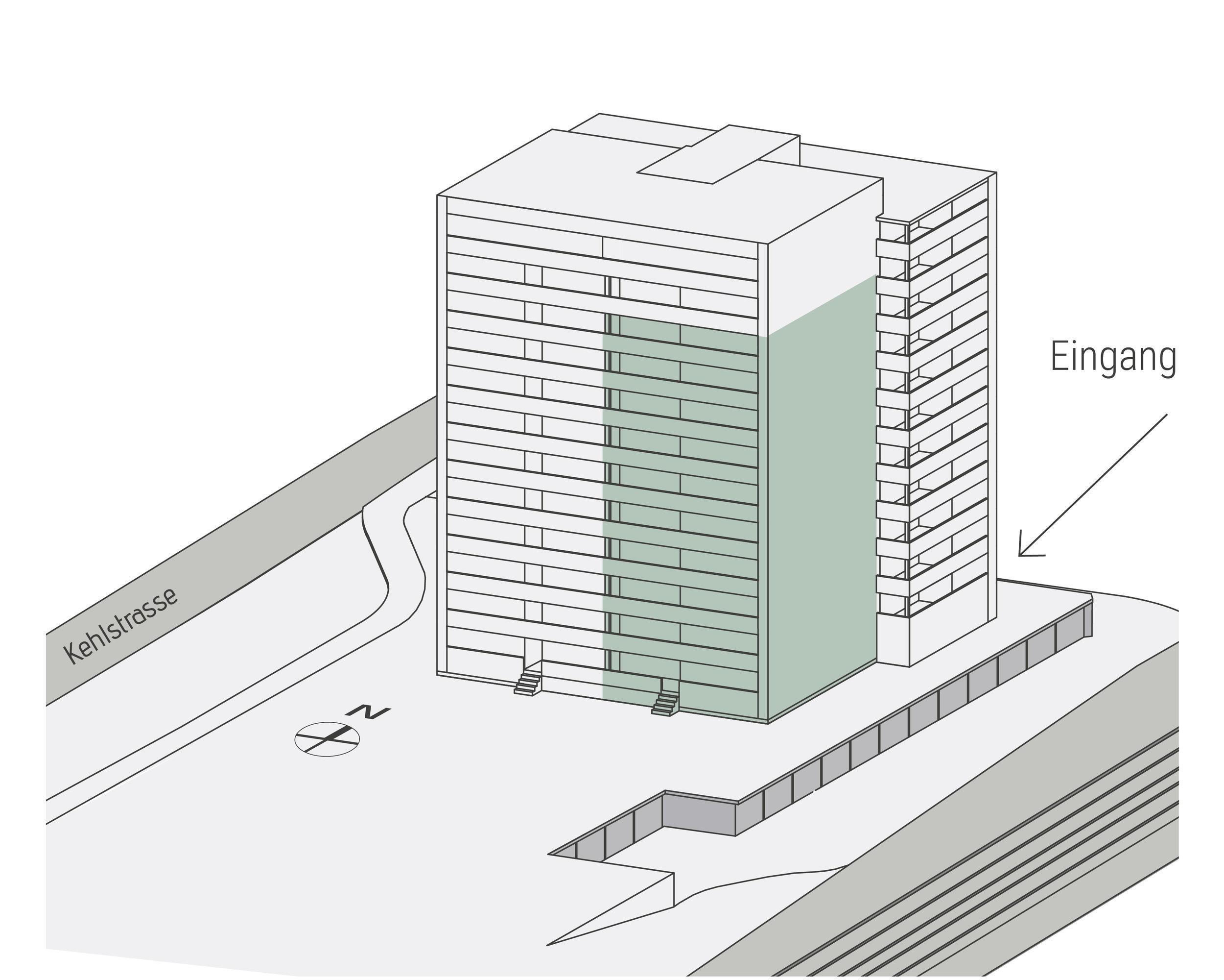 Lage Süd-Ost im Gebäude