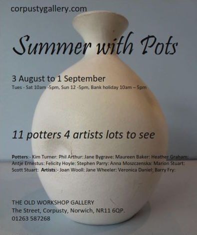 - summer with pots: kim turner, phil arthur, jane bygrave, maureen baker, heather graham, antje ernestus, felicity hoyle, stephen parry, anna moszczenska, marion stuart, scott stuart, joan wooll, jane wheeler, veronica daniel, barry fry