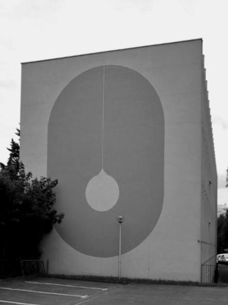 OPH Vitry-sur-Seine , 1973, peinture murale, Carsaf Architecte, Vitry-sur-Seine