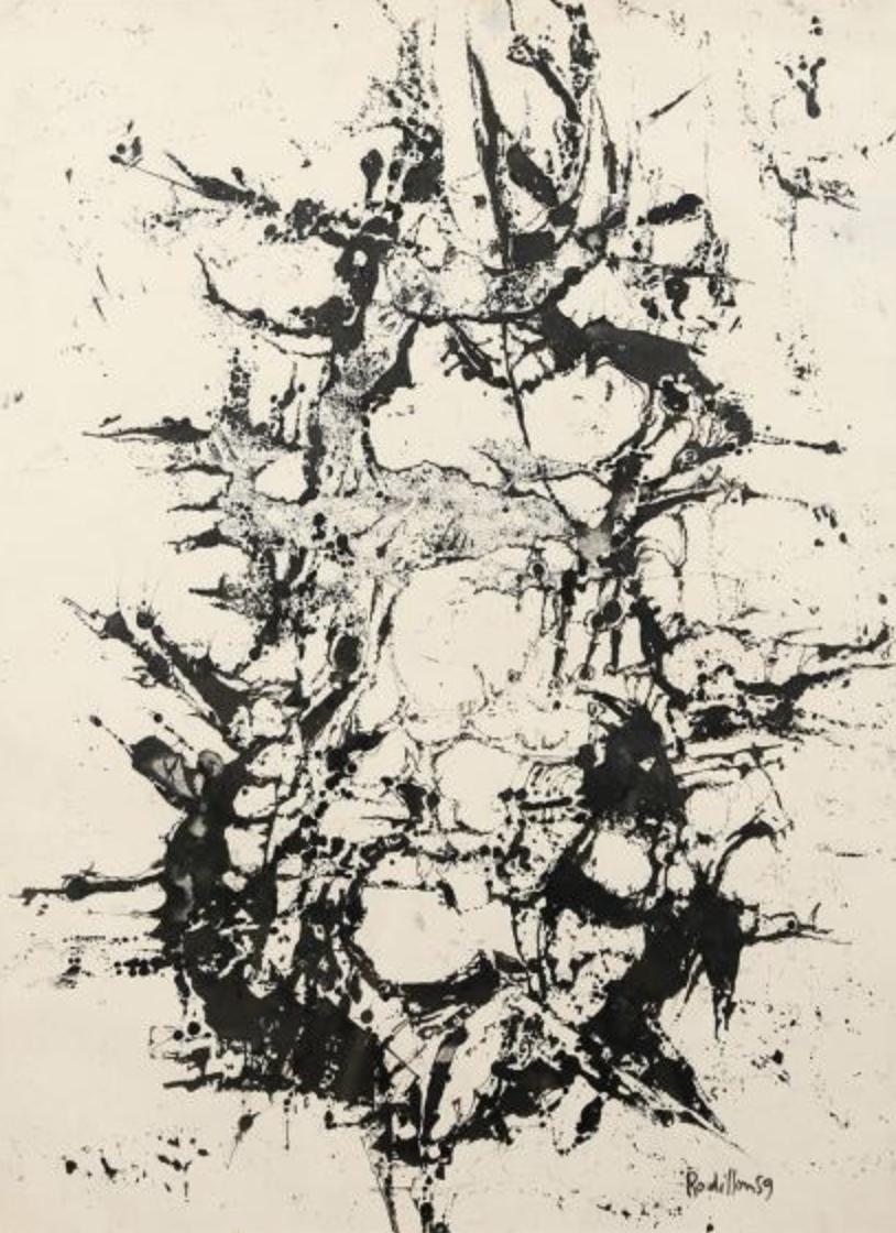Composition , 1959, encre sur papier, collection particulière