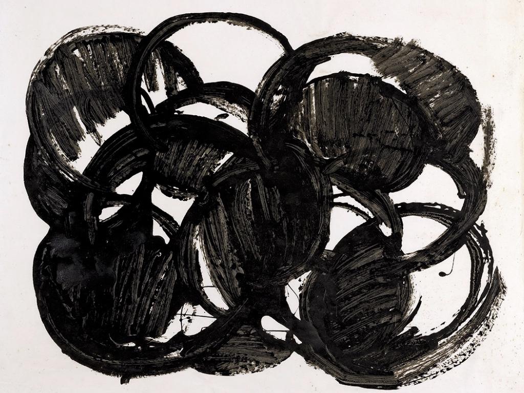 Sans titre , 1968, Encre sur papier, Lyon, Musée des Beaux-Arts, © Lyon MBA - photo Blaise Adilon