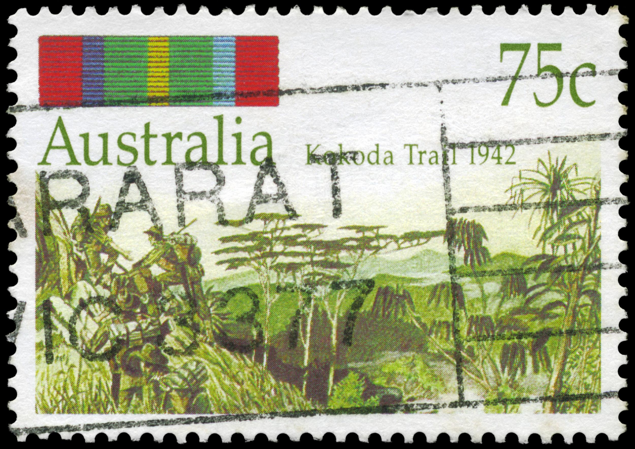 Milne Bay Kokoda Trail Stamp 1942 iStock-162242227.jpg
