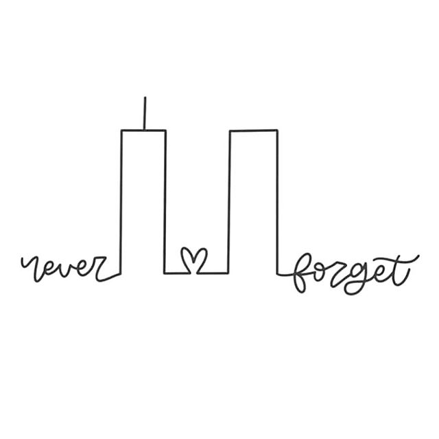 Dear New York, I will love you always.  We will always honor the fallen.  #september11 #neverforget