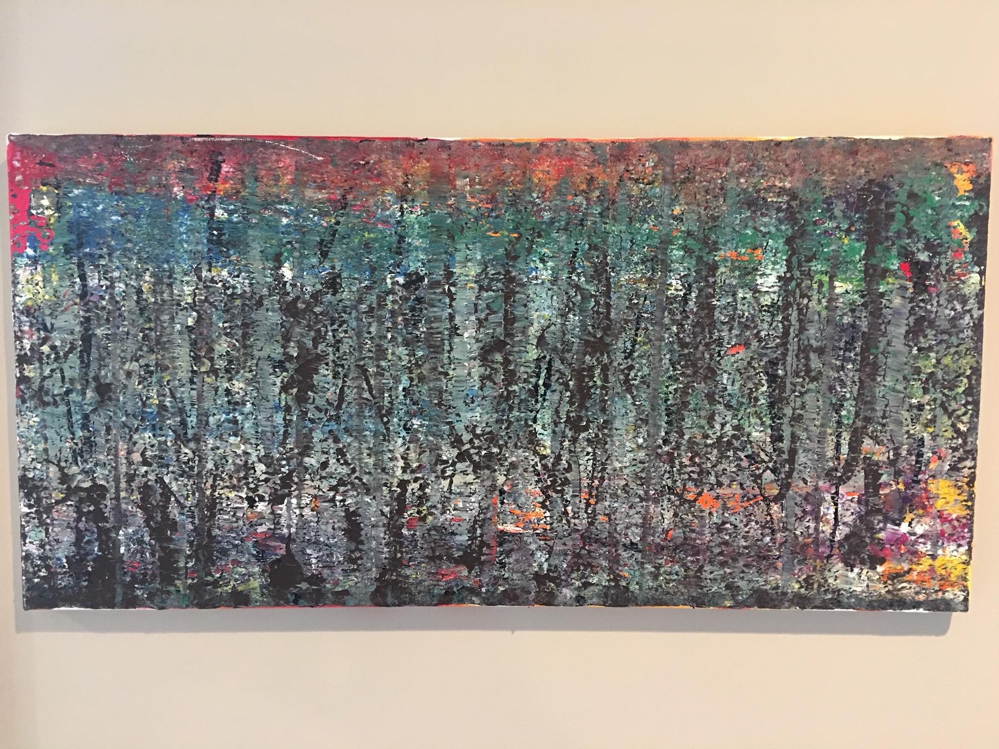 """2014. Acrylic on Canvas, 12"""" x 24""""."""